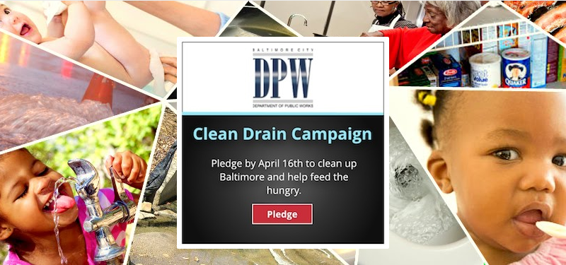 Take the Clean Drain Pledge and Vote for Paul's Place